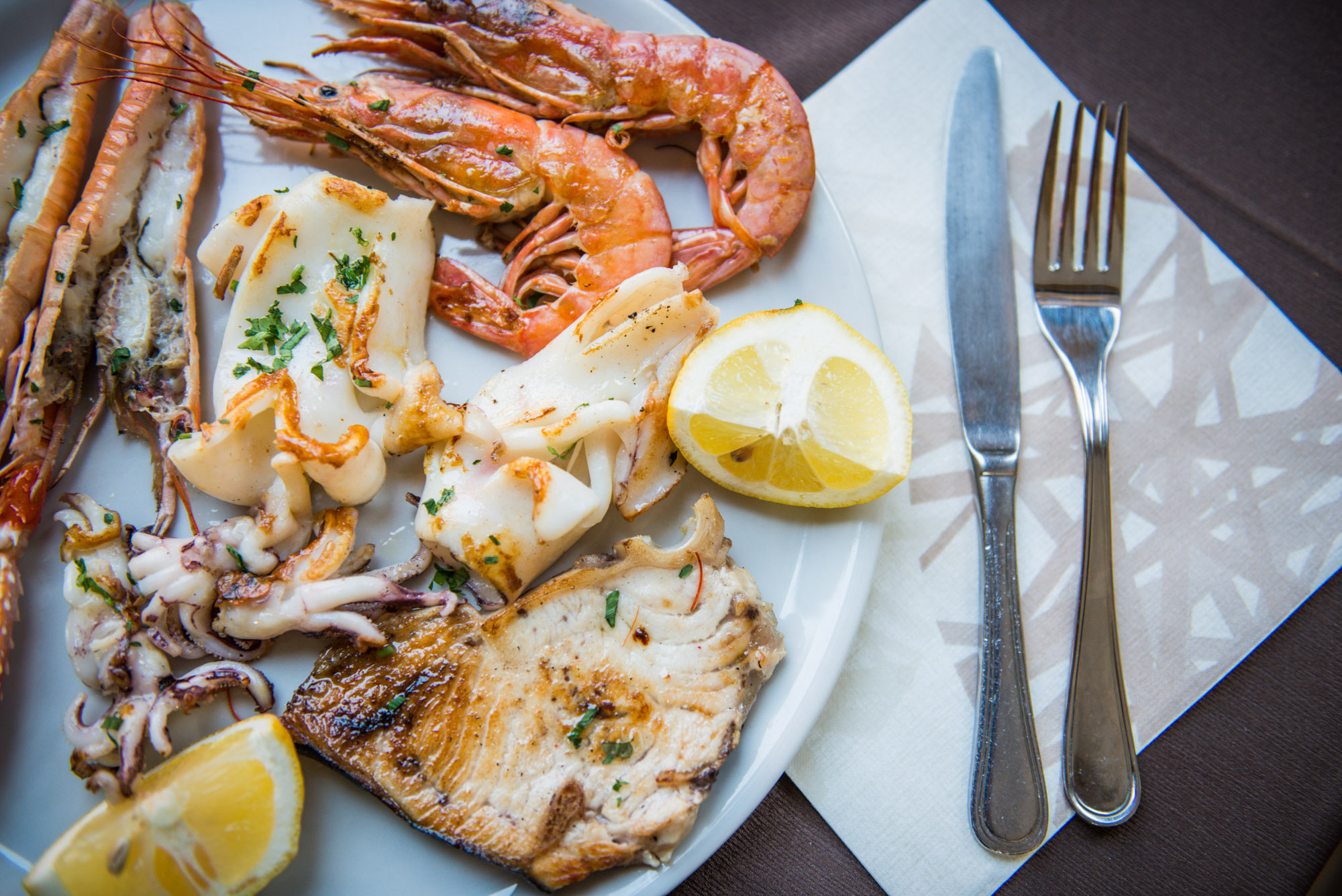 grigliata di pesce fresco ristorante la vecchia senese livorno